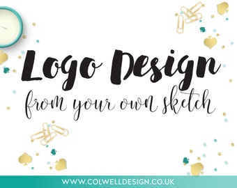 Custom Logo design from your sketch, bespoke logo design, business branding concepts personalised, customised, businesses, graphic designer