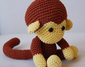 Amigurumi Crochet Monkey Pattern - Johnny the Monkey - Softie - Plush