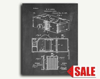 Patent Art - Photographic Camera Patent Wall Art Print