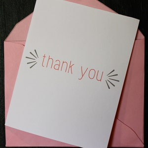 Free printable thank you card template etsy 425x55 thank you greeting card printable pink grey pdf m4hsunfo