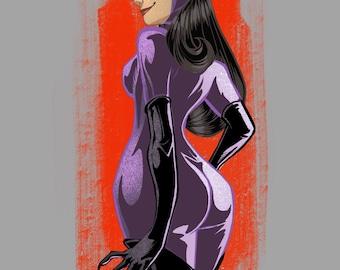 Catwoman art print - various sizes
