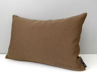 SALE, Chocolate Brown Outdoor Pillow Cover, Modern Cocoa Sunbrella Cushion Cover, Decorative Brown Pillow Cover, Brown Throw Pillow Cover