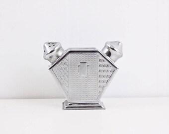 1950s salt and pepper shaker, midcentury two headed shaker, wedding gift idea