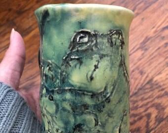 Small Froggy Handmade Ceramic Mug