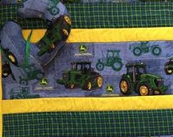Tractor Baby Quilt Set