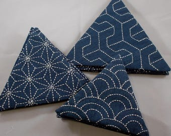 Sashiko Triangle Coaster