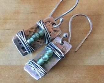 Peridot Gemstones and Sterling Silver Earrings August Birthstone -ToniRaeCreations