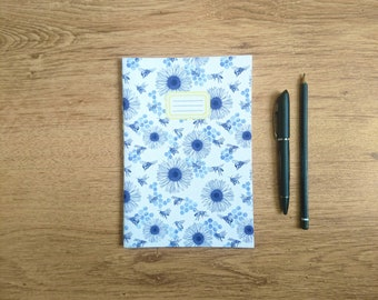 Honeybees    A5 Hand-stitched Lined Notebook