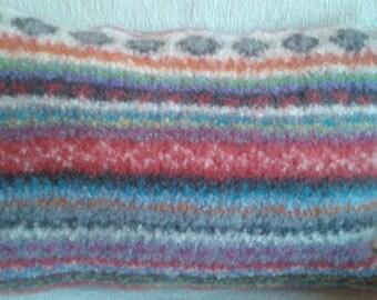 Handmade felted cushion