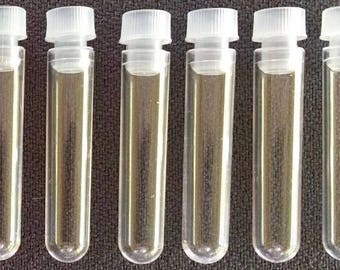3ml ...Empty Clear Plastic Vials With Plastic Plug Tops.. Small Jars...Bottles.. 15 pieces  + Free Shipping