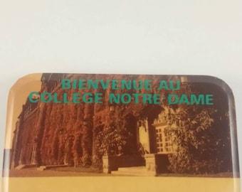 Vintage Notre-Dame pinback button