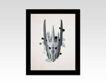 Lord of the Rings inspired Sauron minimalist print