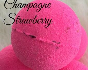 CHAMPAGNE STRAWBERRY Bubble Bath Bomb,Bath Fizzie,Bubble Bar,Spa Bath Bomb
