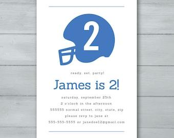 Football Helmet Birthday Party Invitation  |  Football Birthday Invite  |  Helmet Invite  |  Football Invitation