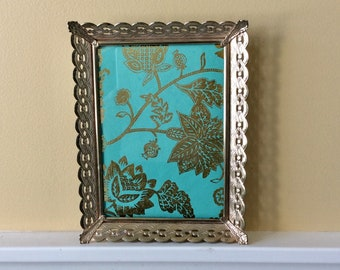 Vintage Gold Metal Filigree Picture Frame, 5 x 7 Picture Frame, French Country, Shabby Chic, Victorian, Hollywood Regency