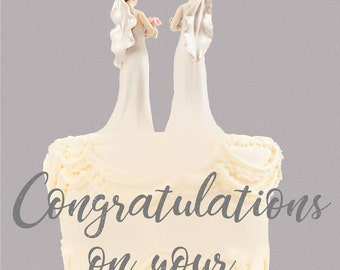 Gay 'Congratulations on your Wedding Day' Greetings Card
