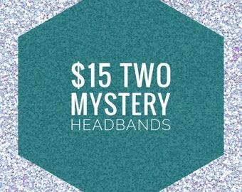 TWO Mystery Knot Headbands