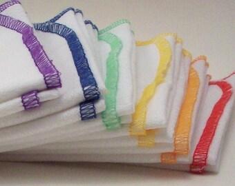 Birdseye Cotton Unpaper Towels in Your Choice of Muliple Colors - Reusable Paper Towels