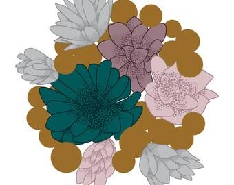 Original Cacti Illustration Greeting Card