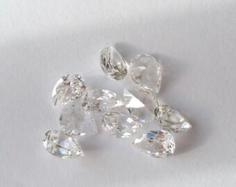 Cubic zirconia CZ stones pear shape tear drop 10 pcs 7x5