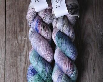Hand Dyed Papiput Silky Merino Lace Yarn - Chakra