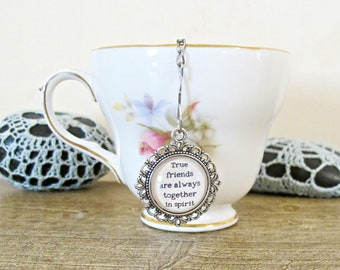 Anne of Green Gables Tea Infuser Strainer - Quote True Friends - Foodie Gift Heart Homewares Kitchen Afternoon - Silver Bookworm Bookish