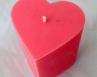 Heart pillar candle, candle centerpiece, 3x4 pillar candle, romantic candle, valentine candle, wedding candle, party candle