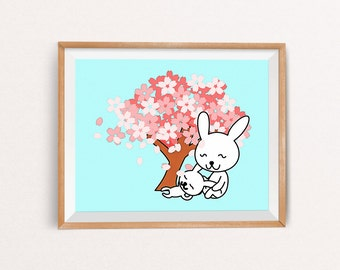 Bunny Nursery Art, Bunny Nursery Decor, Bunny Nursery, Bunny Printable, Nursery Bunny, Bunny Wall Decor, INSTANT DOWNLOAD, 8x10, A3