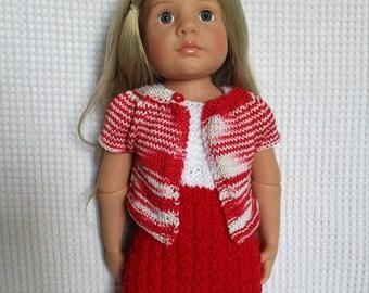 Gotz doll, dress and vest for 50 cm Gotz doll clothing