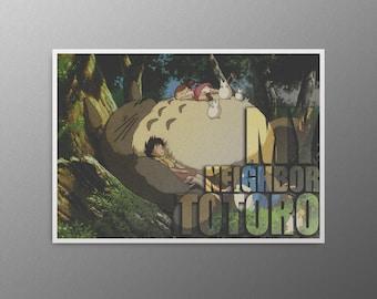 Totoro Anime print Totoro poster My neighbor totoro Studio ghibli totoro Ghibli print Anime art print Totoro decal Studio ghibli print