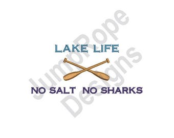 Lake Life Oars - Machine Embroidery Design