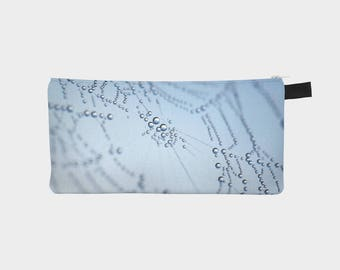 Spider Web Pencil Case, Cob Web Pouch, Pencil Pouch, Make Up Bag, Blue Pouch, Small Bag, Zipper Pouch, pencil bag, Cosmetic Bag, Small Pouch