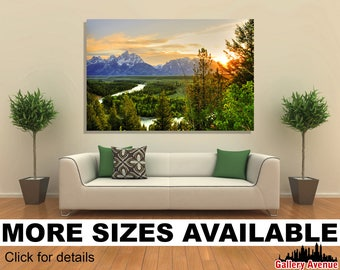 Wall Art Giclee Canvas Picture Print Gallery Wrap Ready to Hang Grand Teton National Park 60x40 48x32 36x24 24x16 18x12 3.2
