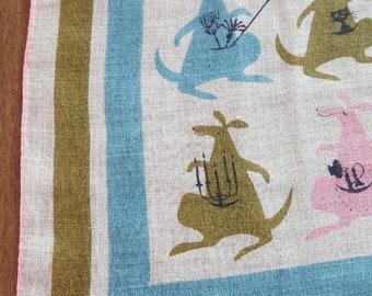 Tammis Keefe handkerchief hankie hanky with kangaroos