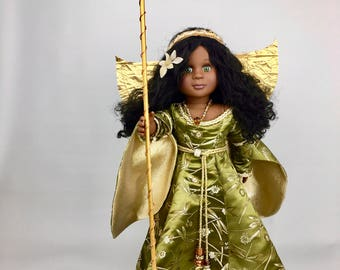 Dragonfly Fairy 18 Inch Doll Clothes, Doll Fairy Costume, Handmade Costume for Journey Girls, Our Generation, or American Girl doll