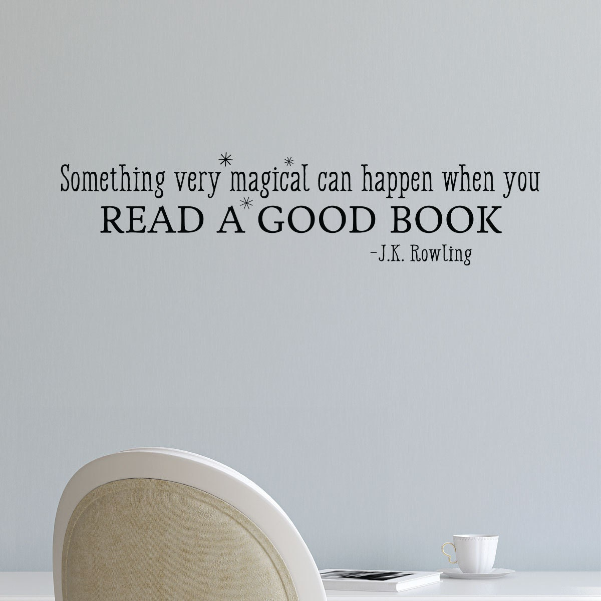 Magical Quotes Book Wall Decal Wall Quote Something Magical Read A Good Book