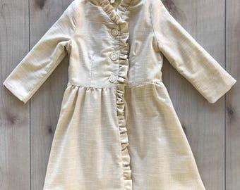 SAMPLE SALE -  Camellia Coat in Glimmer - Size 4