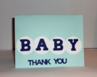 Thank You Baby Cards, Baby Thank You Card,  Baby Cards, 12 Baby Announcement Cards, Baby Shower, Newborn, Baby, Baby Congrats