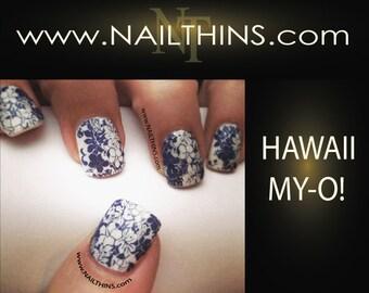 Hawaii Nail Decal Hawaiian Print nail art Hawaii My Oh Full Nail Wrap NAILTHINS