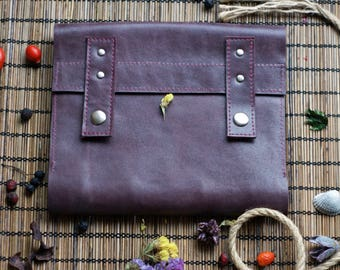 Leather notebook for men or woman / vintage journal  retro notepad diary