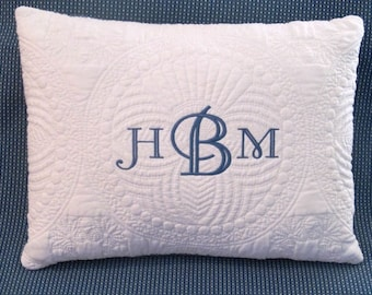 Monogrammed Pillow, Throw pillow, Monogrammed throw pillow, Baby throw pillow, embroidered monogrammed pillow