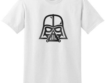 Star Wars Inspired Darth Vader Helmet Design 3 Black Gray Grey T-Shirt T-Shirts Tops Women Men Boys Girls Ladies Unisex Fit