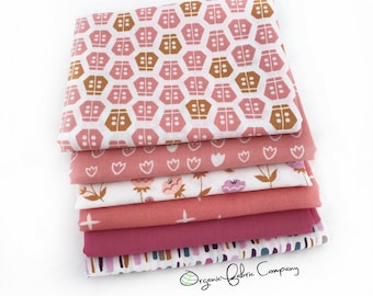 SALE - Love Pretty in Pink 2 - Organic Fabrics - Shop Curated Collection - Fat Quarter Bundle
