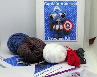 Captain America Avengers crochet kit