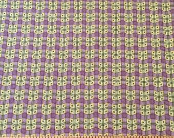 1 yard, Mumms The Word, Debbie Mumm for SSI, purple, yellow, green, blue - 100% cotton fabric