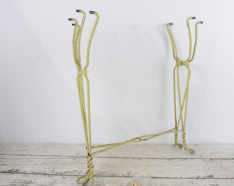 Antique Metal Wire Twist Leg Ice Cream Parlor Table Legs