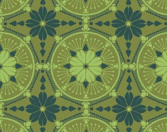 True Colors Medallion in Emerald -- by Anna Maria Horner -- 1/2 Yard