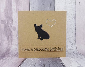 Handmade French Bulldog birthday card, French Bulldog anniversary card, Frenchie Valentine's Day card, French Bulldog Pun card