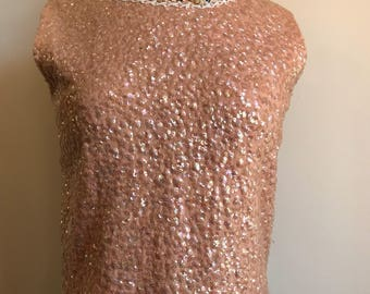 1950's vintage sequin top by Superior