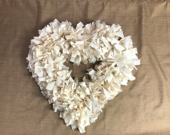 Farmhouse Heart Wreath (Price includes Shipping)